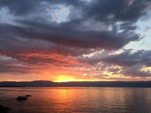 Le coucher de soleil sur le Léman
