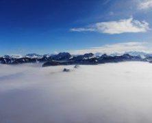 «Seul au monde» – une mer de nuages vue du ciel – 022018